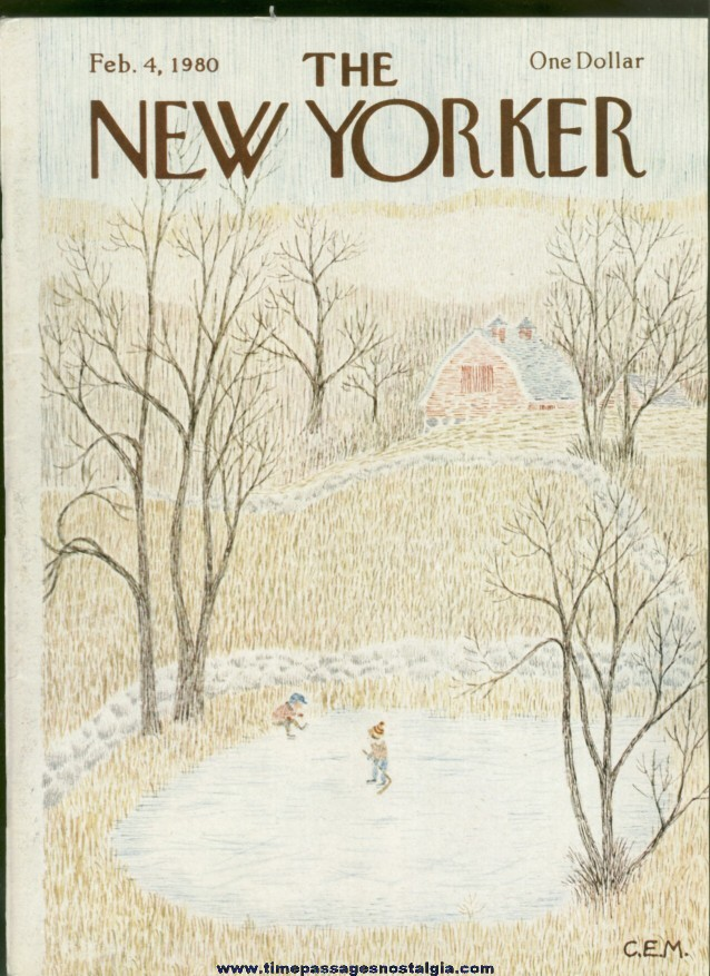 New Yorker Magazine - February 4, 1980 - Cover by Charles E. Martin