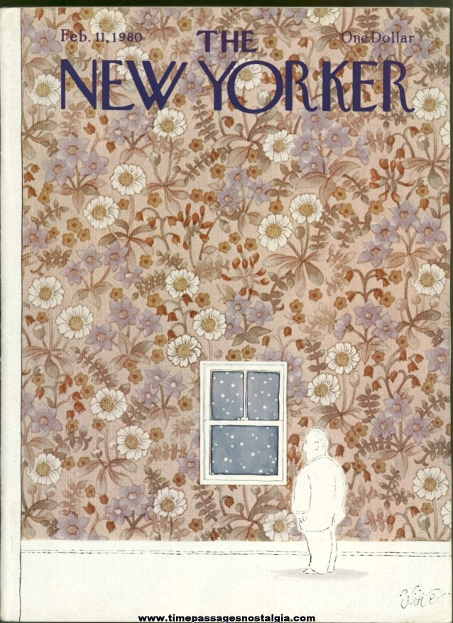 New Yorker Magazine - February 11, 1980 - Cover by Michael Witte