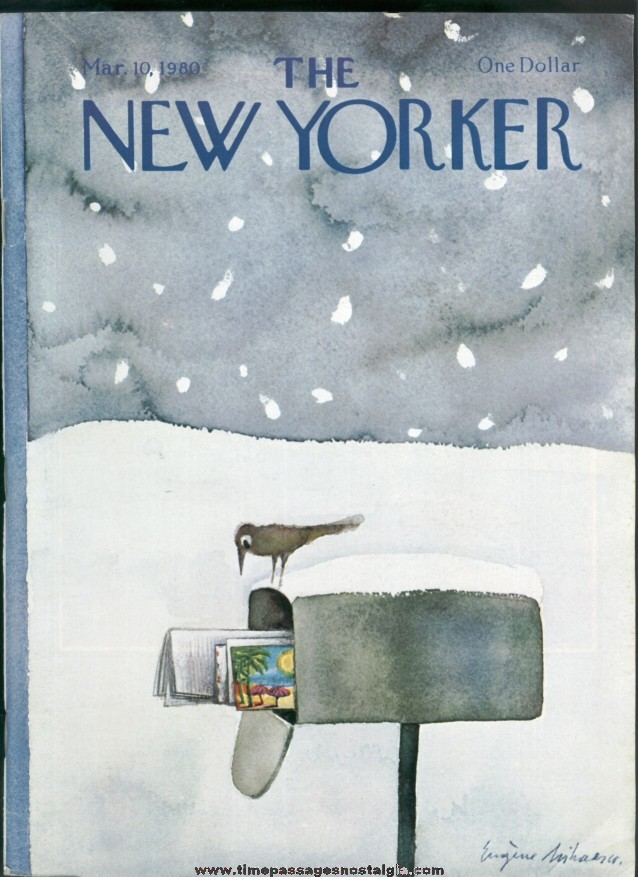 New Yorker Magazine - March 10, 1980 - Cover by Eugene Mihaesco