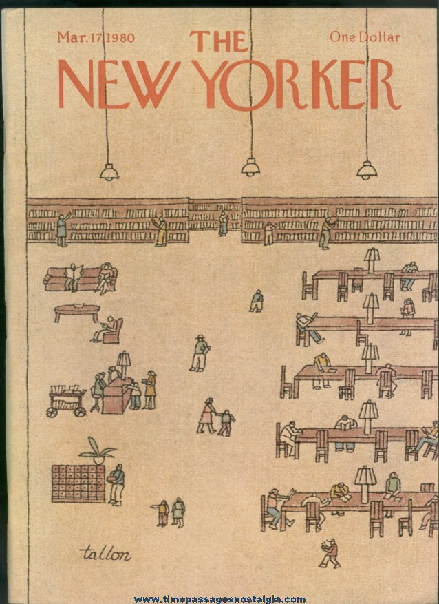 New Yorker Magazine - March 17, 1980 - Cover by Robert Tallon