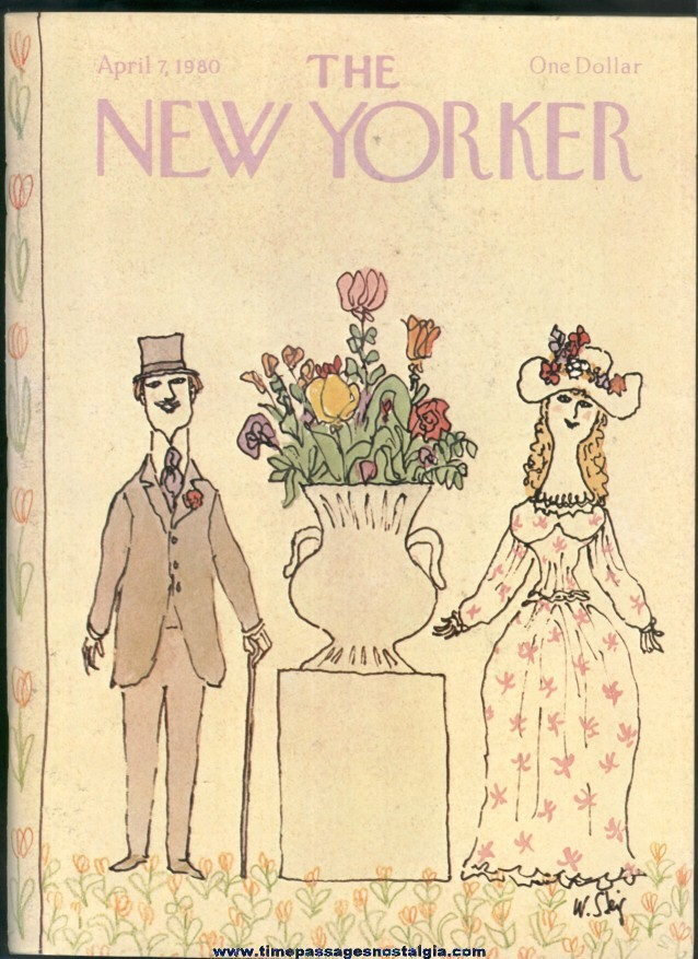 New Yorker Magazine - April 7, 1980 - Cover by William Steig