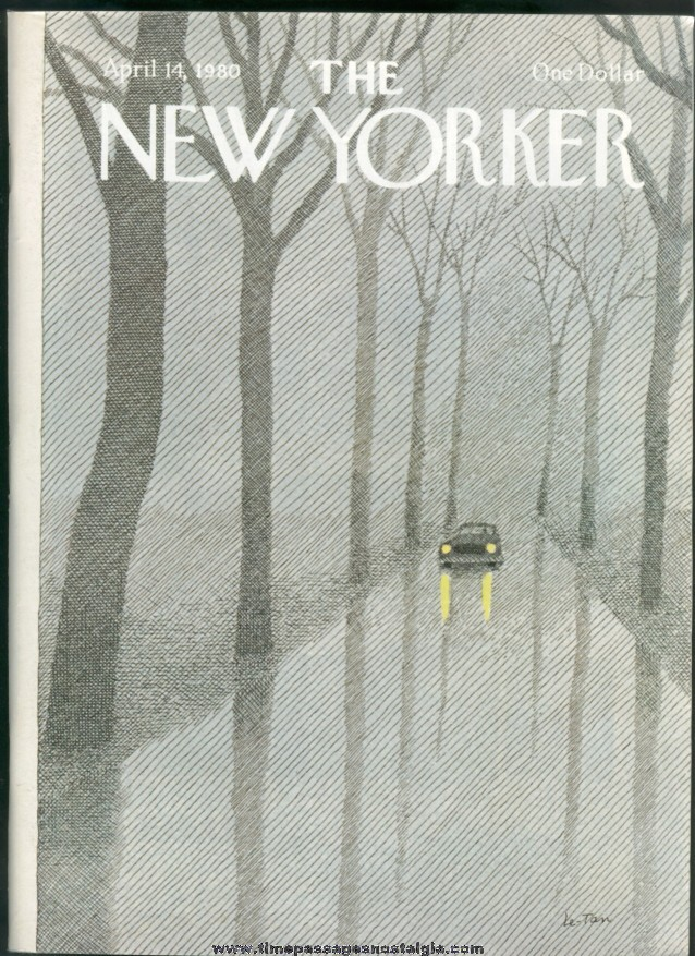 New Yorker Magazine - April 14, 1980 - Cover by Pierre Le-Tan