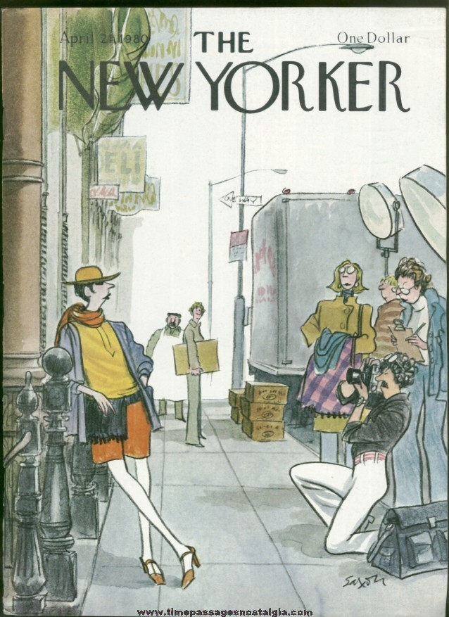 New Yorker Magazine - April 21, 1980 - Cover by Charles Saxon