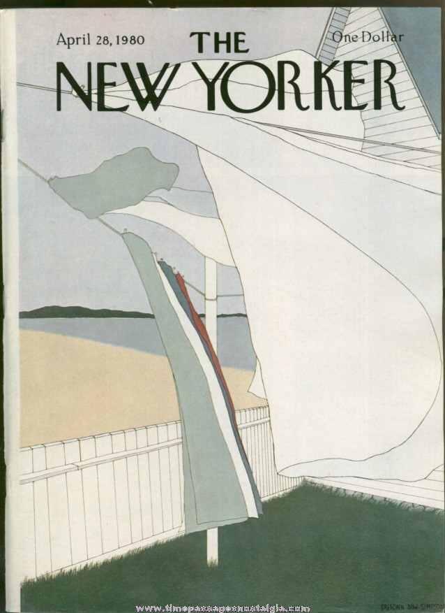 New Yorker Magazine - April 28, 1980 - Cover by Gretchen Dow Simpson