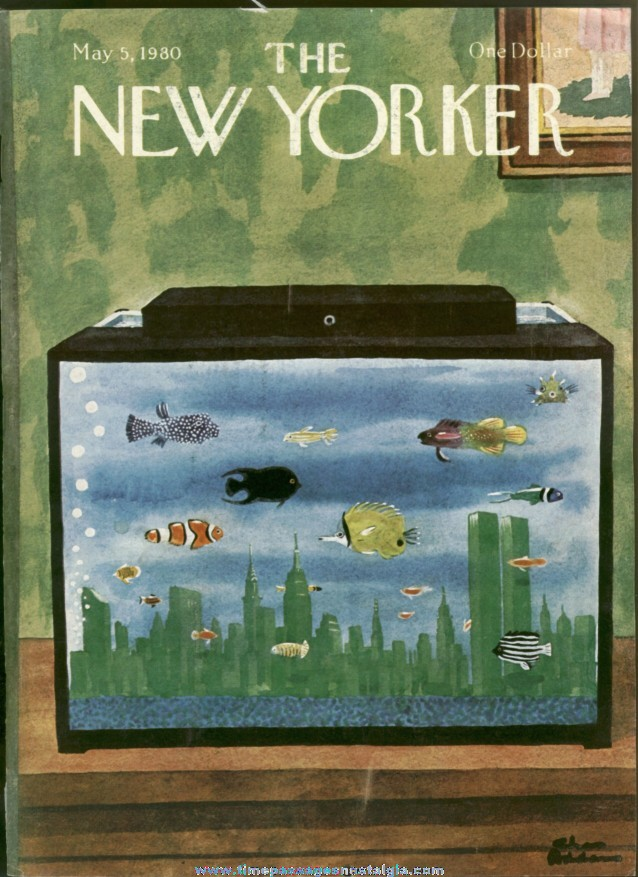 New Yorker Magazine - May 5, 1980 - Cover by Charles (Chas) Addams