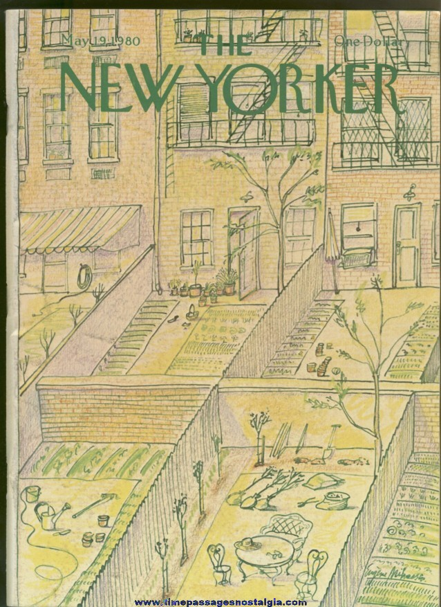 New Yorker Magazine - May 19, 1980 - Cover by Eugene Mihaesco