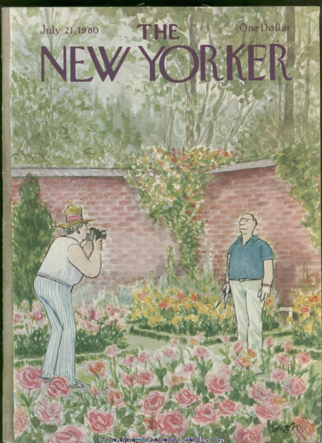 New Yorker Magazine - July 21, 1980 - Cover by Charles Saxon