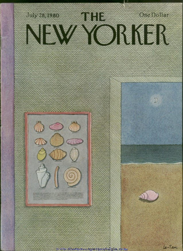 New Yorker Magazine - July 28, 1980 - Cover by Pierre Le-Tan