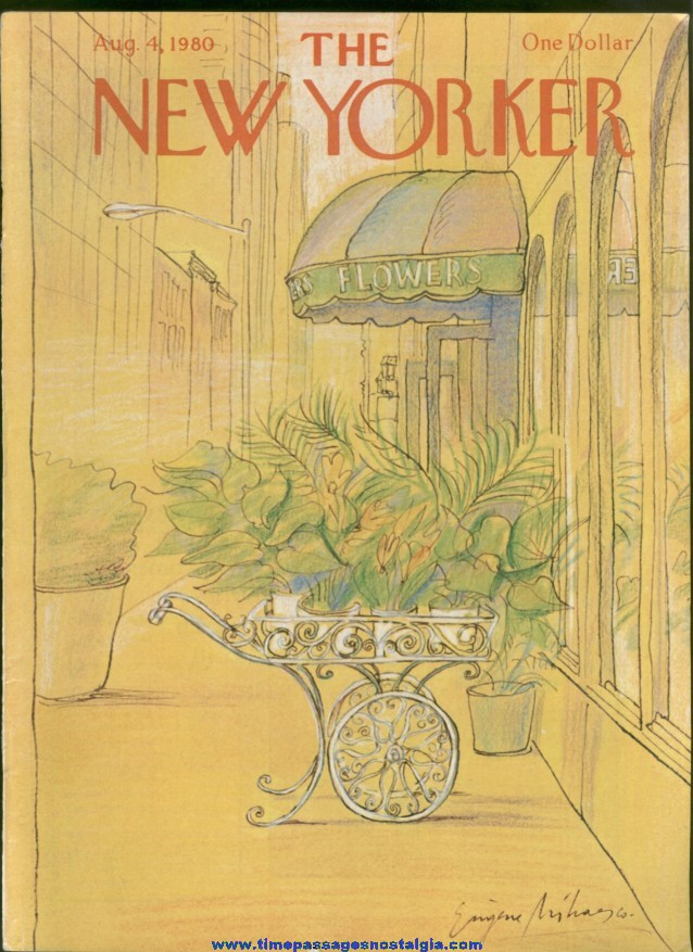 New Yorker Magazine - August 4, 1980 - Cover by Eugene Mihaesco