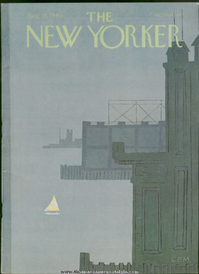 New Yorker Magazine - August 18, 1980 - Cover by Charles E. Martin
