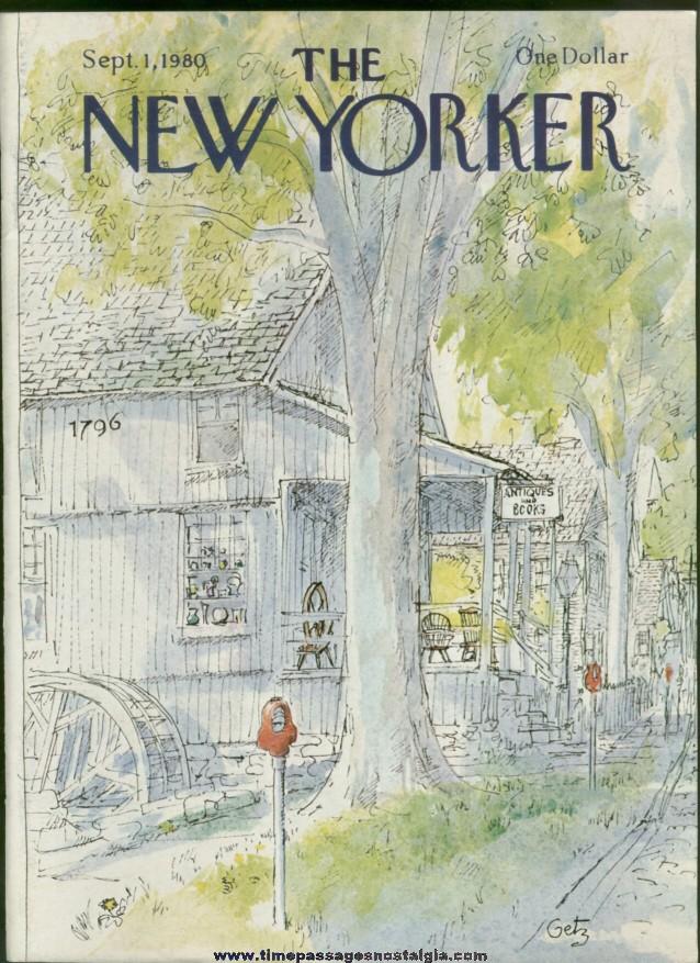 New Yorker Magazine - September 1, 1980 - Cover by Arthur Getz