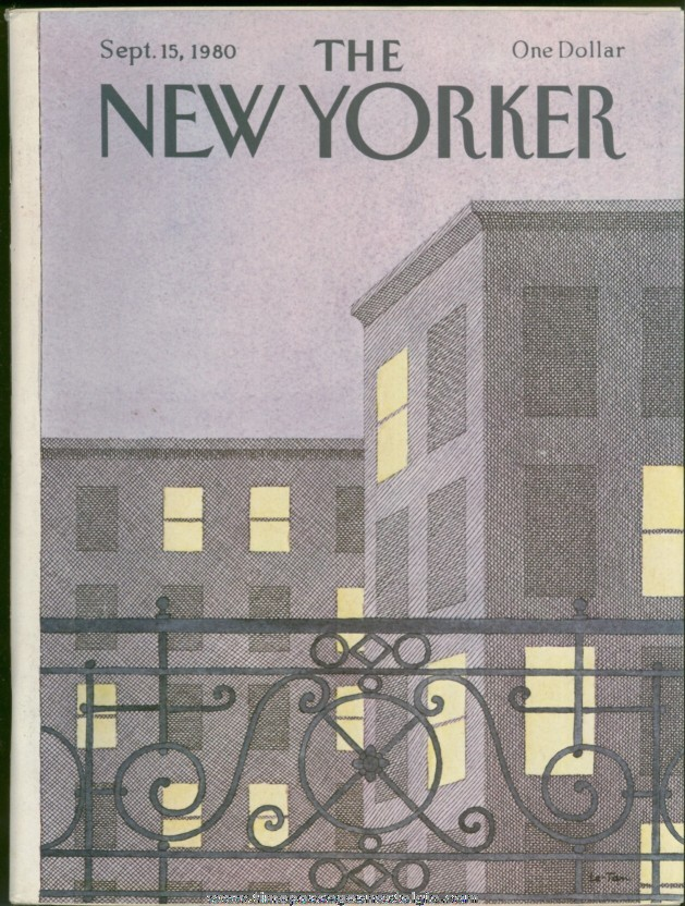 New Yorker Magazine - September 15, 1980 - Cover by Pierre Le-Tan