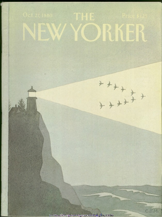 New Yorker Magazine - October 27, 1980 - Cover by Charles E. Martin