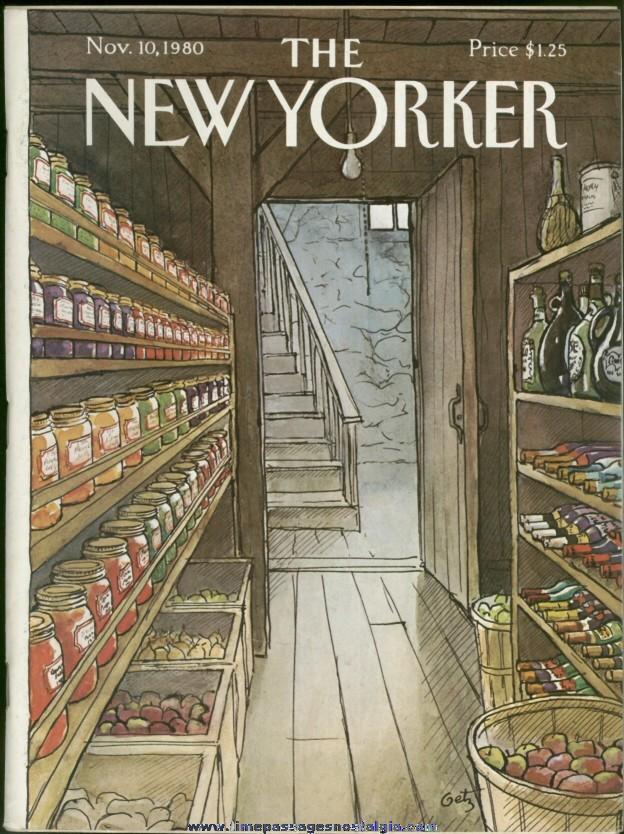 New Yorker Magazine - November 10, 1980 - Cover by Arthur Getz