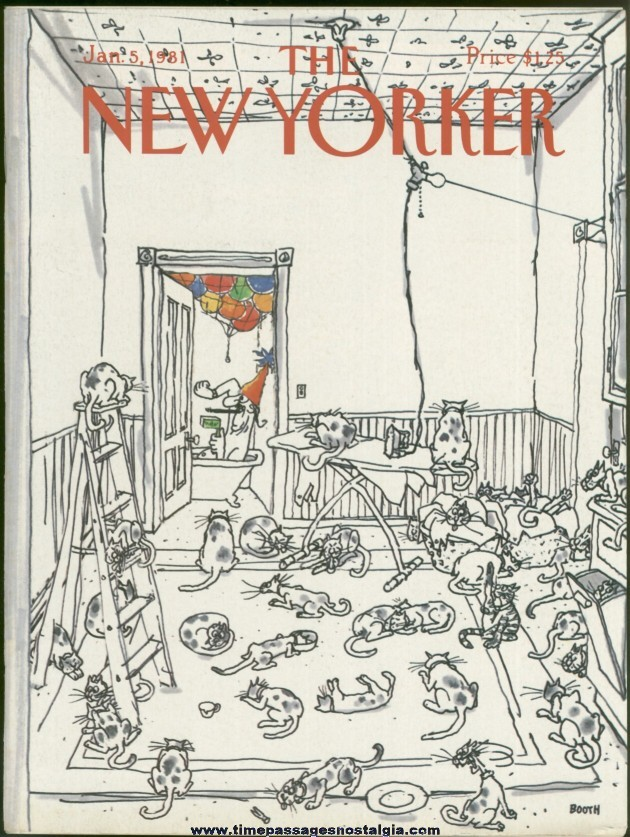 New Yorker Magazine - January 5, 1981 - Cover by George Booth