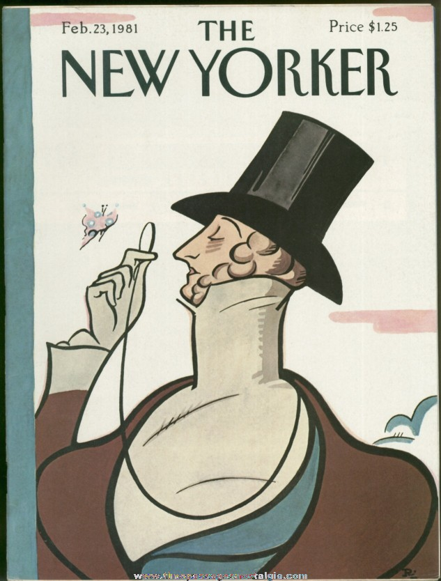 New Yorker Magazine - February 23, 1981 - Cover by Rea Irvin