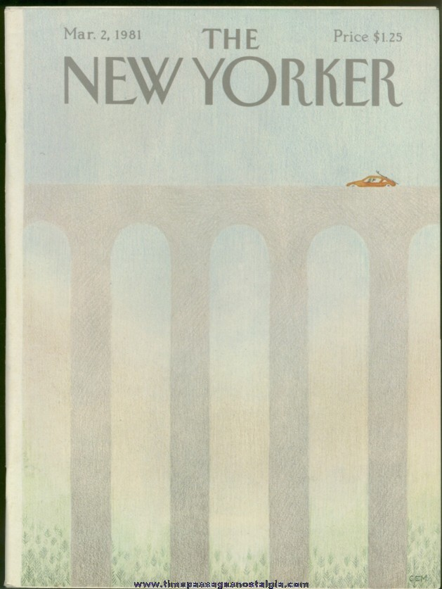 New Yorker Magazine - March 2, 1981 - Cover by Charles E. Martin