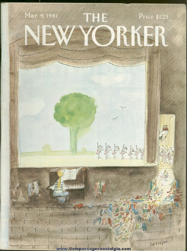 New Yorker Magazine - March 9, 1981 - Cover by J. J. Sempe