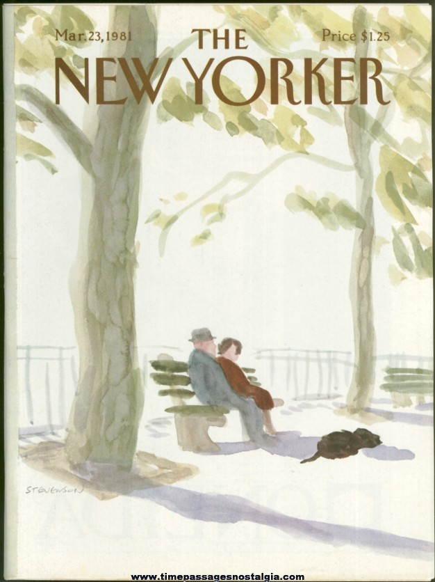 New Yorker Magazine - March 23, 1981 - Cover by James Stevenson