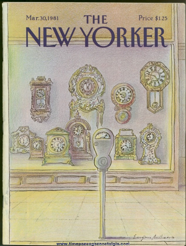 New Yorker Magazine - March 30, 1981 - Cover by Eugene Mihaesco