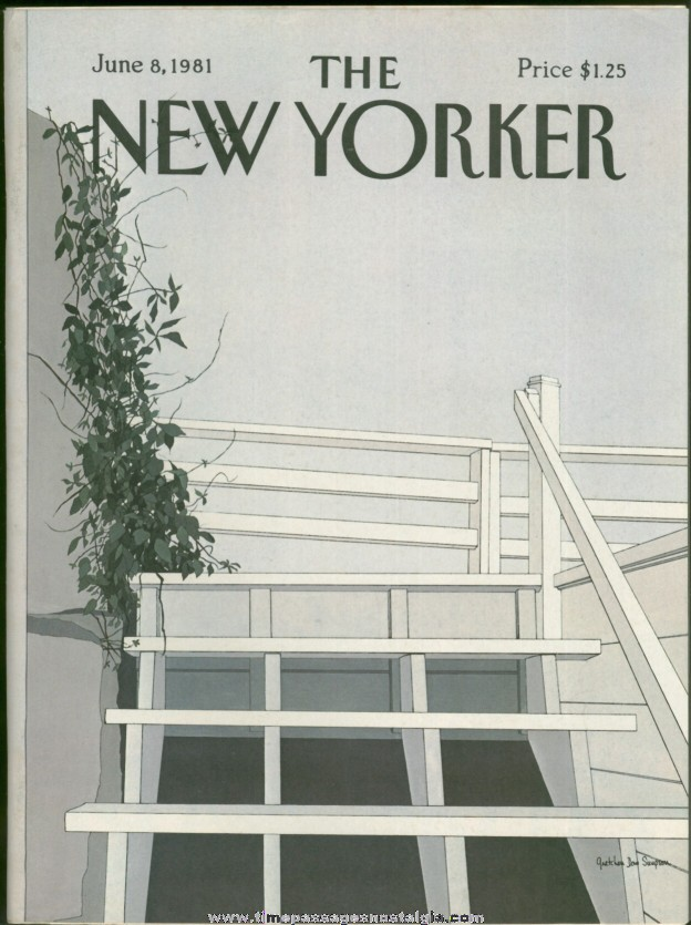 New Yorker Magazine - June 8, 1981 - Cover by Gretchen Dow Simpson