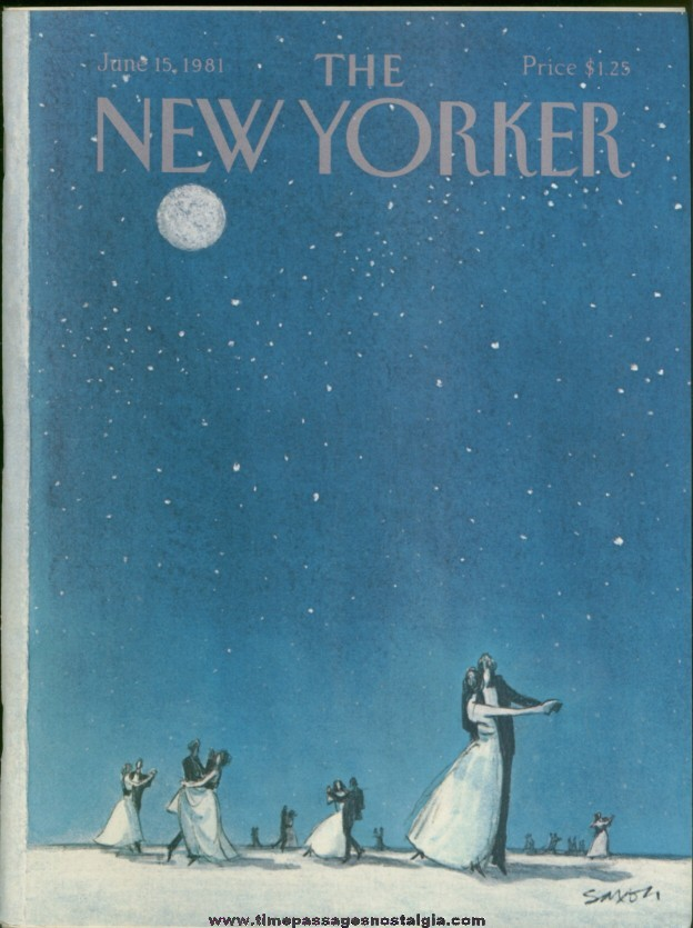 New Yorker Magazine - June 15, 1981 - Cover by Charles Saxon