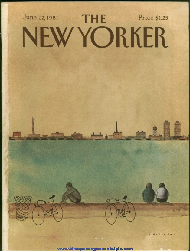 New Yorker Magazine - June 22, 1981 - Cover by Abel Quezada