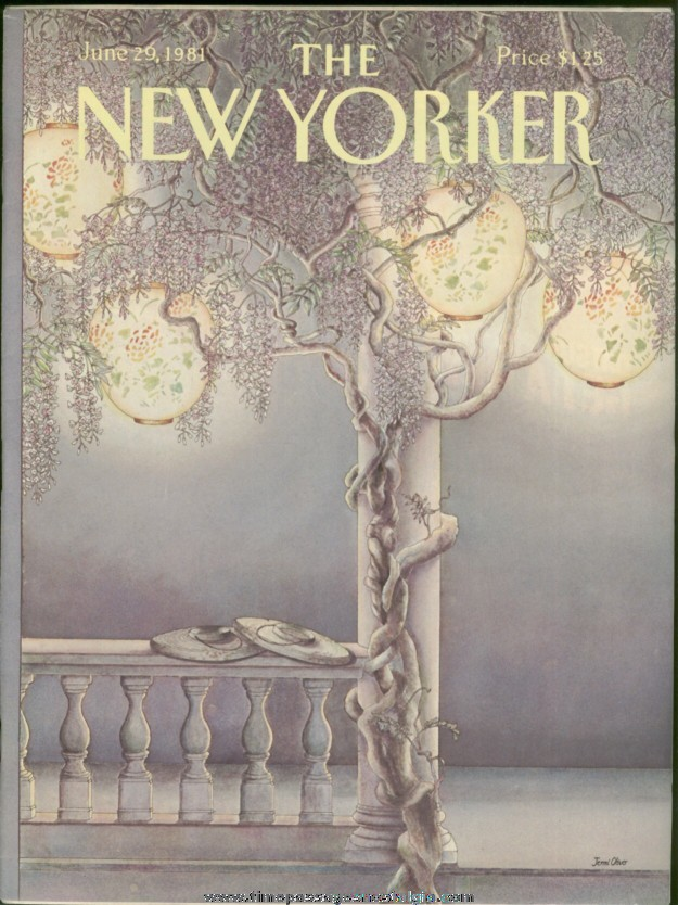 New Yorker Magazine - June 29, 1981 - Cover by Jenni Oliver