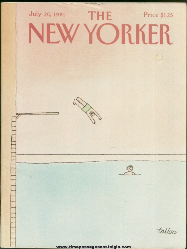 New Yorker Magazine - July 20, 1981 - Cover by Robert Tallon