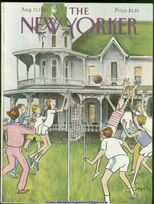 New Yorker Magazine - August 17, 1981 - Cover by Charles Saxon