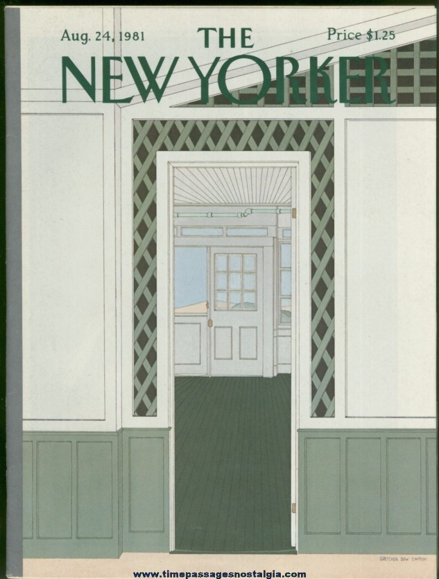New Yorker Magazine - August 24, 1981 - Cover by Gretchen Dow Simpson