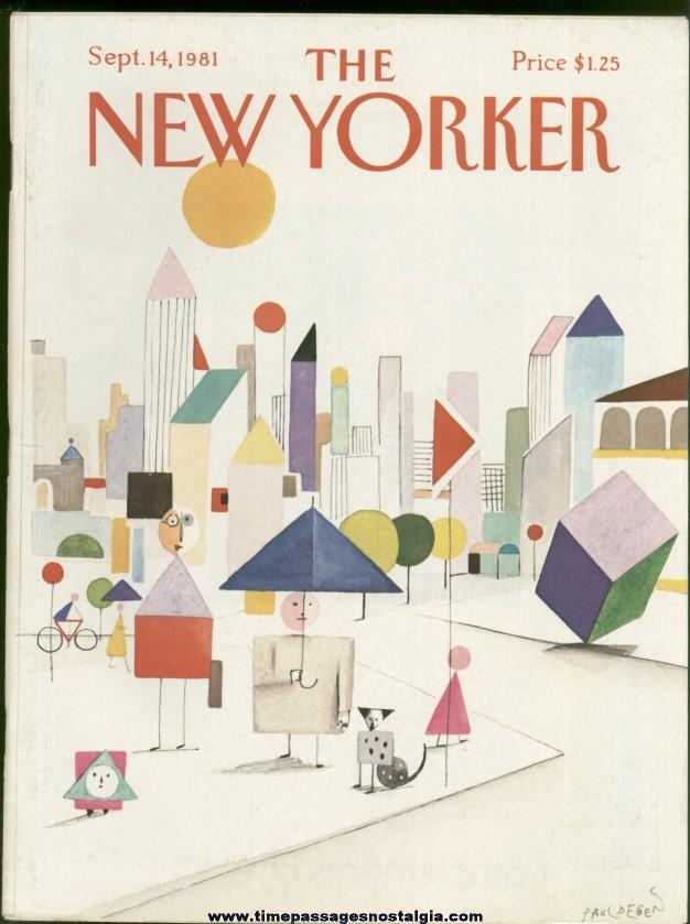 New Yorker Magazine - September 14, 1981 - Cover by Paul Degen