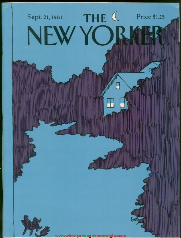 New Yorker Magazine - September 21, 1981 - Cover by Arthur Getz