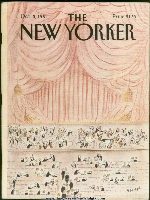 New Yorker Magazine - October 5, 1981 - Cover by J. J. Sempe