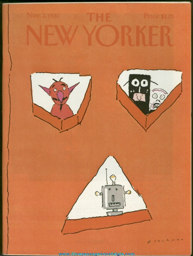 New Yorker Magazine - November 2, 1981 - Cover by R. O. Blechman