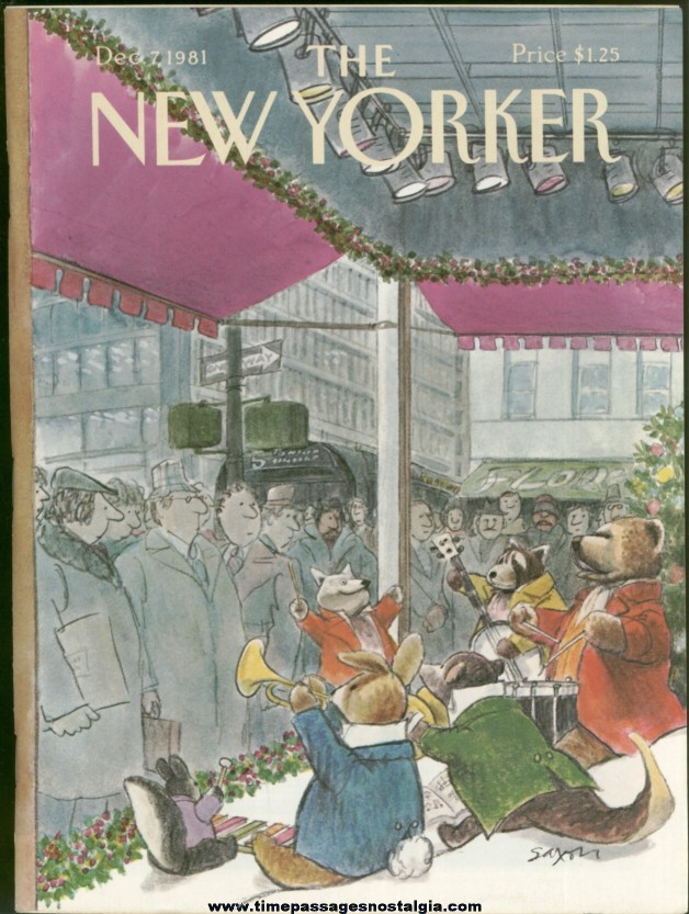 New Yorker Magazine - December 7, 1981 - Cover by Charles Saxon