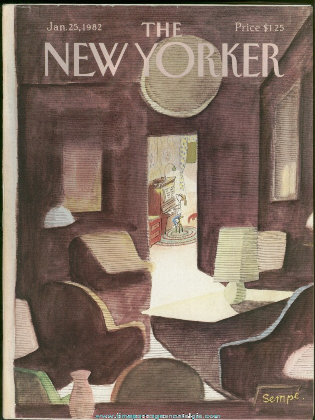 New Yorker Magazine - January 25, 1982 - Cover by J. J. Sempe