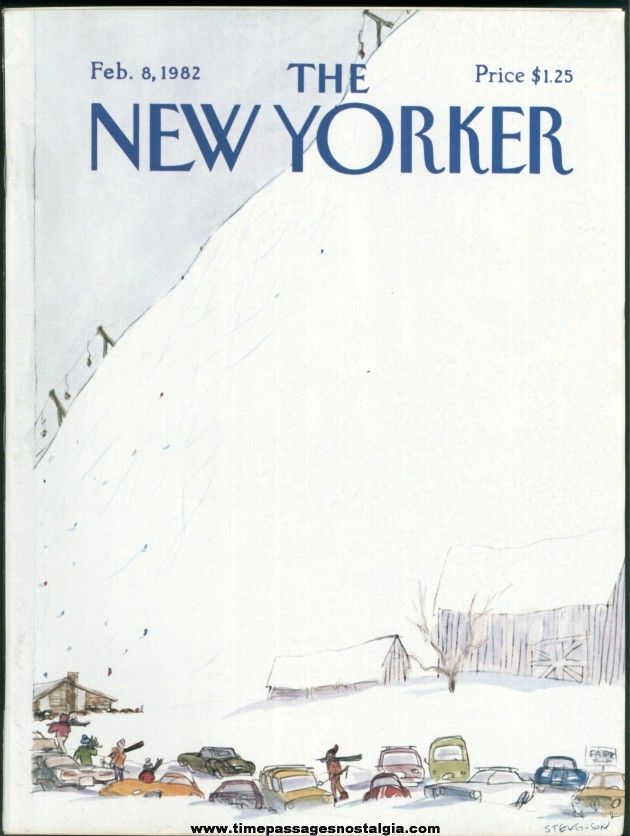 New Yorker Magazine - February 8, 1982 - Cover by James Stevenson