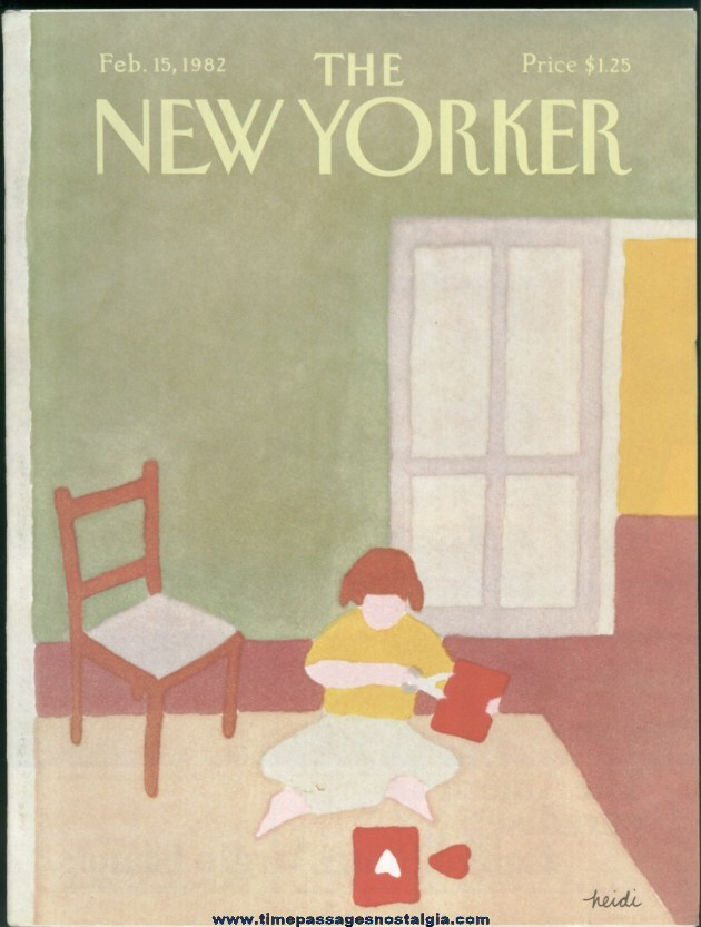 New Yorker Magazine - February 15, 1982 - Cover by Heidi Goennel