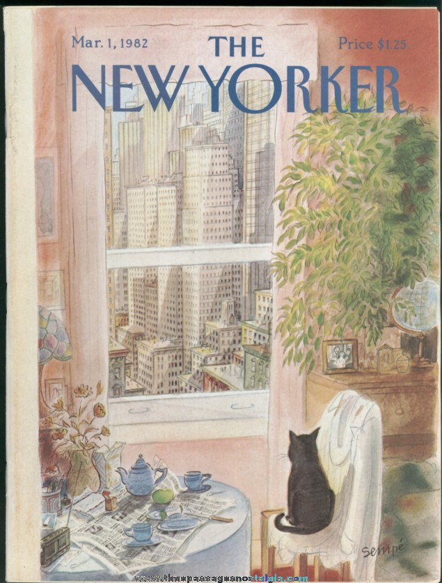 New Yorker Magazine - March 1, 1982 - Cover by J. J. Sempe