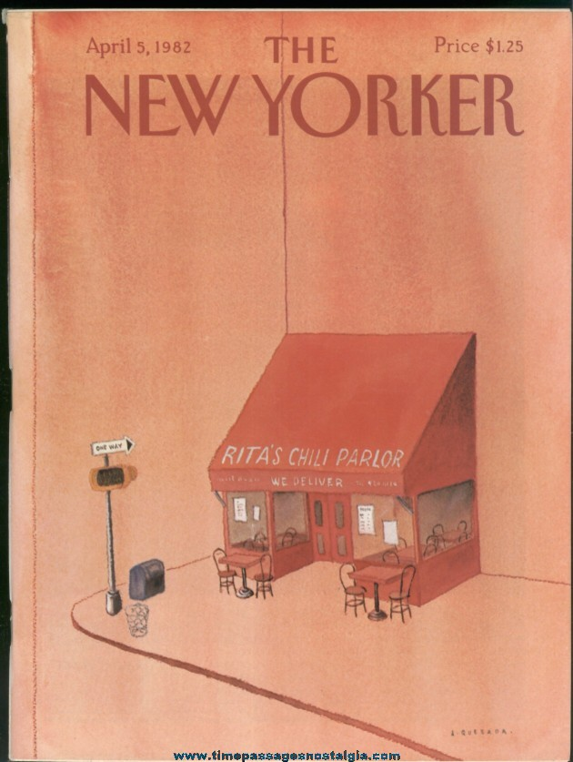 New Yorker Magazine - April 5, 1982 - Cover by Abel Quezada