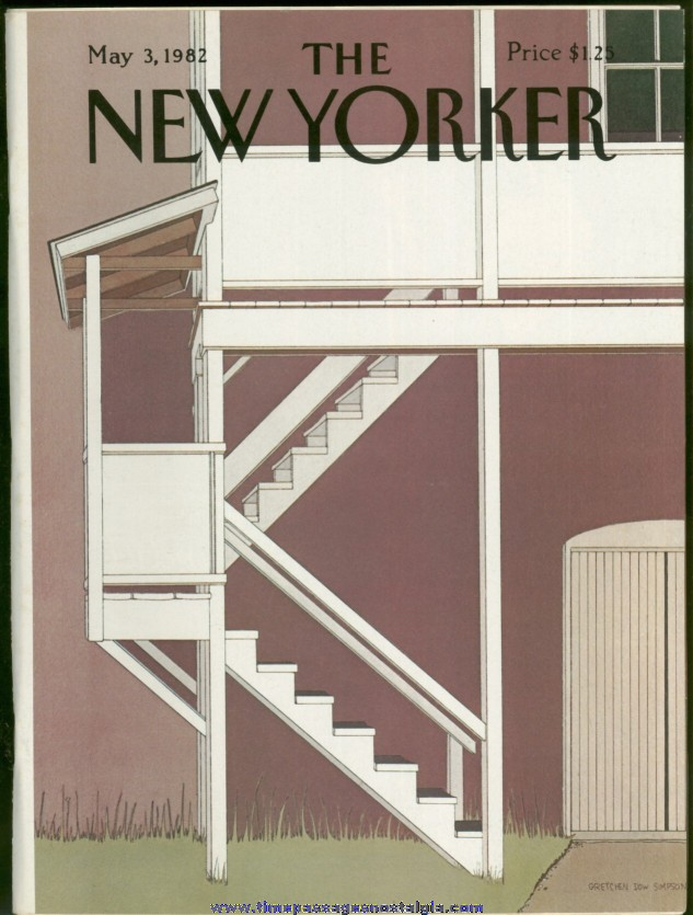 New Yorker Magazine - May 3, 1982 - Cover by Gretchen Dow Simpson