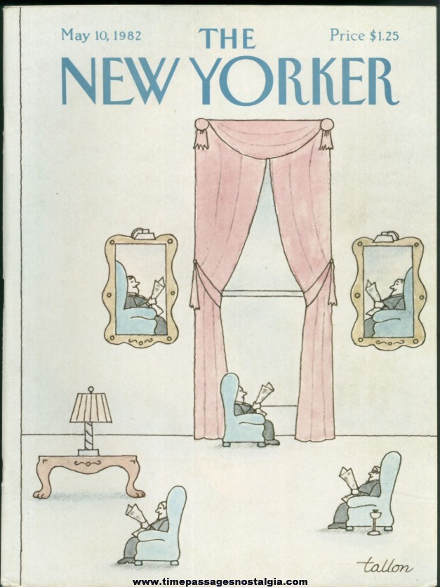 New Yorker Magazine - May 10, 1982 - Cover by Robert Tallon