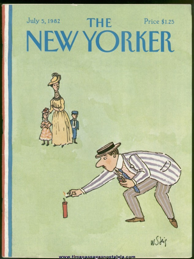 New Yorker Magazine - July 5, 1982 - Cover by William Steig