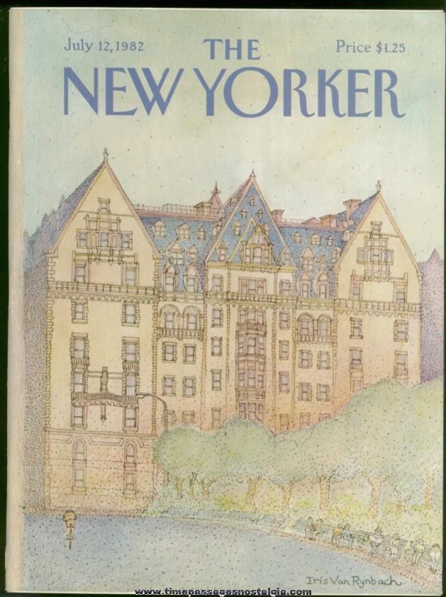 New Yorker Magazine - July 12, 1982 - Cover by Iris Van Rynbach