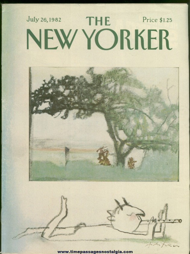 New Yorker Magazine - July 26, 1982 - Cover by Andre Francois