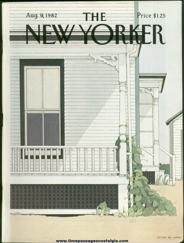 New Yorker Magazine - August 9, 1982 - Cover by Gretchen Dow Simpson