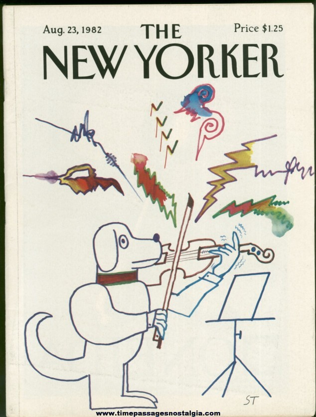 New Yorker Magazine - August 23, 1982 - Cover by Saul Steinberg