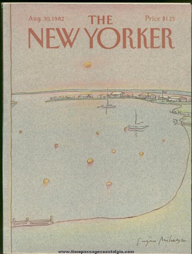 New Yorker Magazine - August 30, 1982 - Cover by Eugene Mihaesco