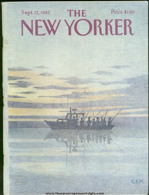 New Yorker Magazine - September 13, 1982 - Cover by Charles E. Martin